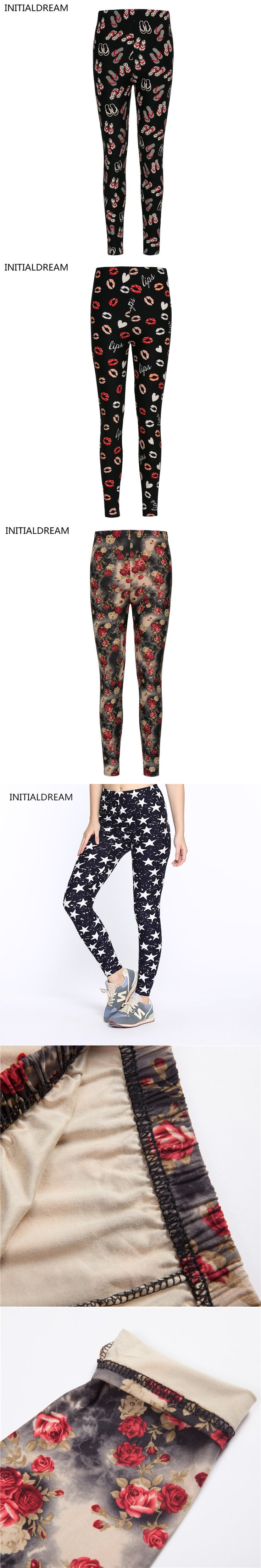 2017  Fashion Floral Womens Printed Leggings Skinny Pants Vintage Legging stretck jeans leggins female winter cotton sexy pants