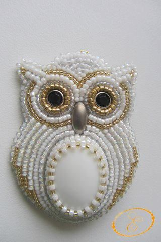 Inspiration: Embroidery, beaded owl.