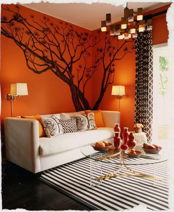 safari inspired living room love the wall color - Safari Living Room Decor