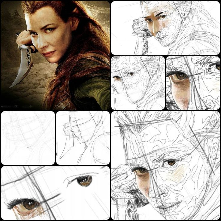 """15 Likes, 3 Comments - Jerome Xier (@jeromedrawsings) on Instagram: """"Currently in the works. A fan art for a fan. Tauriel from lord of the rings. The top left image is…"""""""