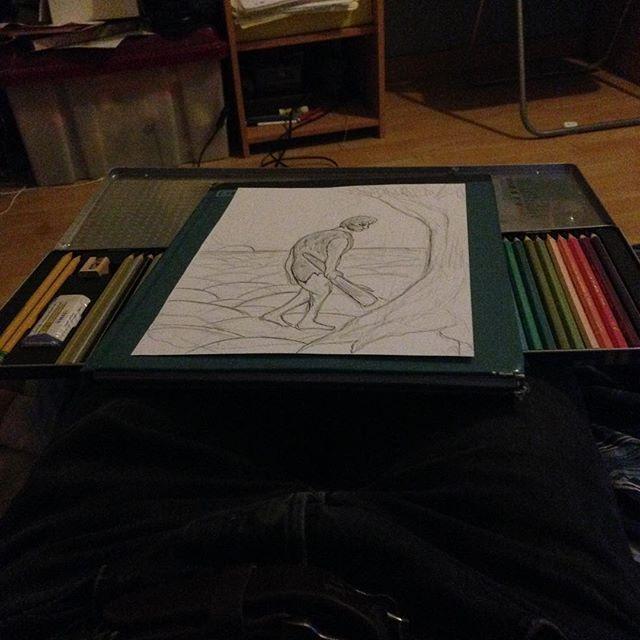 Ouverture d'un nouveau matos... Avec un dessin en préparation... 😏  #Drawing #Opening #Color