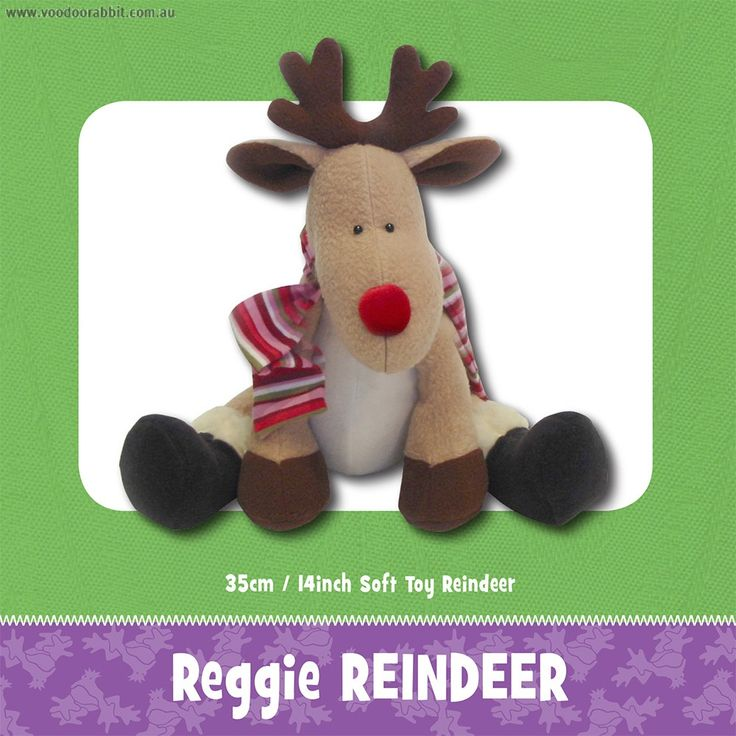 Reggie+Reindeer+Soft+Toy+Sewing+Pattern+by+Funky+Friends+Factory+-+Reindeer+soft+toy+printed+paper+pattern.  This+cute+little+reindeer+wants+to+grow+up+to+help+Santa,+just+like+his+big+brother+Rudolf,+but+he's+still+too+little+to+drive+a+sleigh.+He's+mostly+made+of+fleece+with+a+bit+of+shimmery+red+stretch+velvet+for+his+bright+red+nose.+He+can+be+made+with+or+without+the+button+joints+-+you+decide!+He'd+make+a+lovely+Christmas+present+for+the+children+or+he+could+be+u...