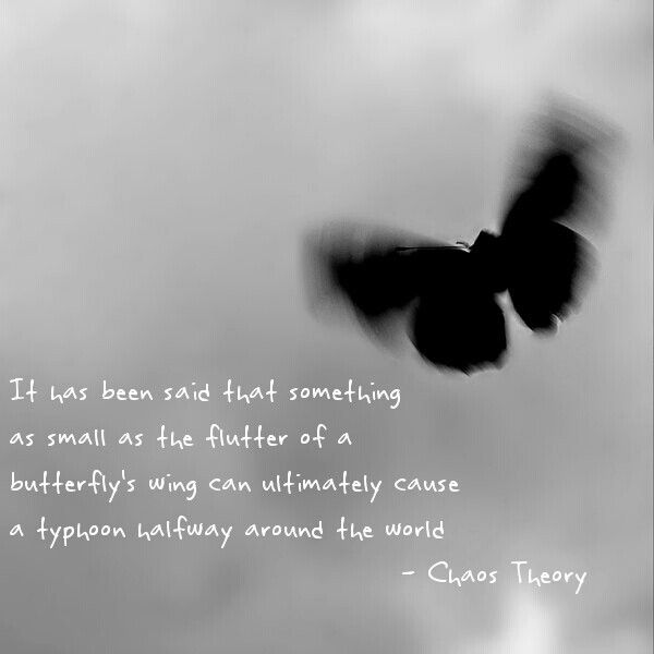 Chaos theory Butterfly effect Quotes Science