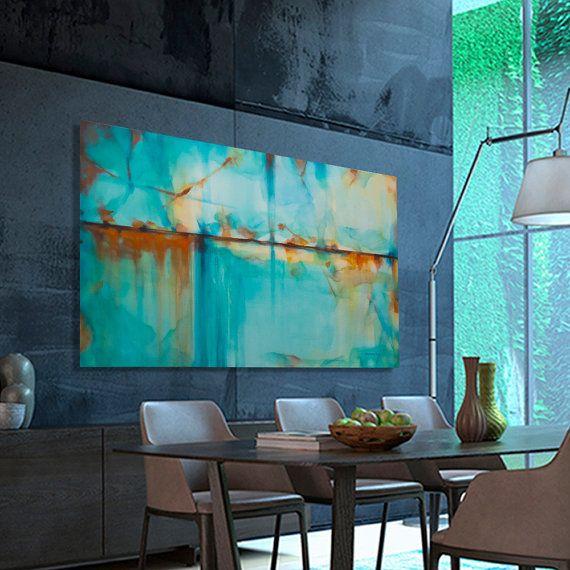 1000 ideas sobre pinturas abstractas al leo en pinterest for Pintura verde turquesa