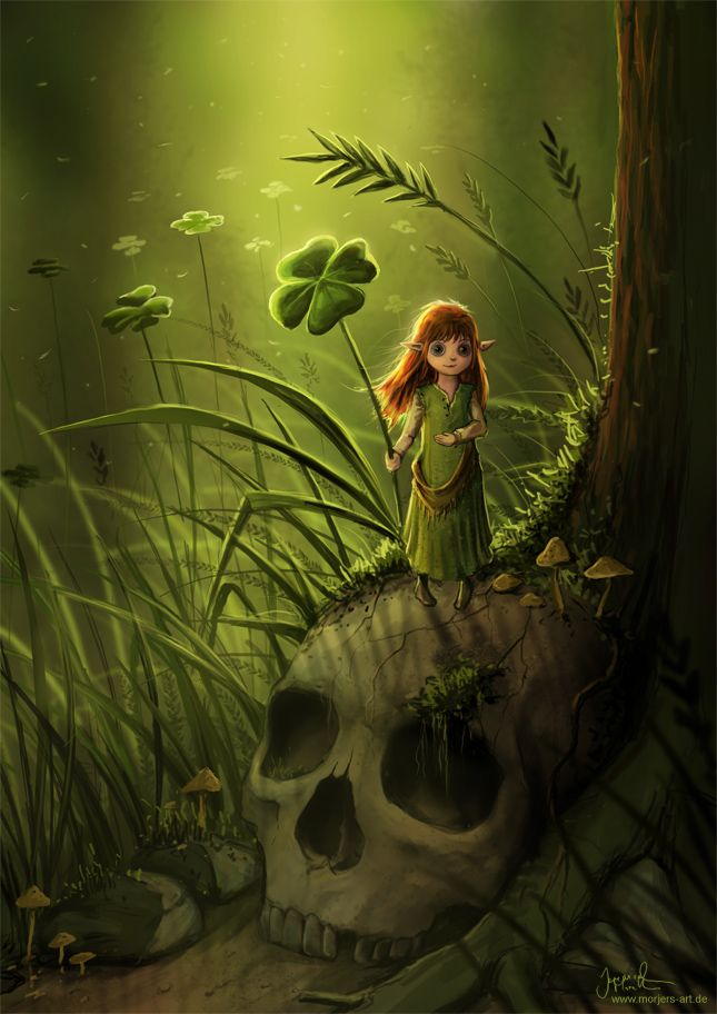 Animated Cute Skull Wallpaper The Four Leaf Clover By Jerry8448 On Deviantart Fantasy