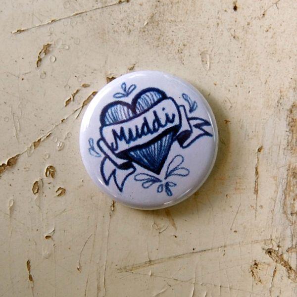 MUDDI - Button von PLATTE ANNA auf DaWanda.com