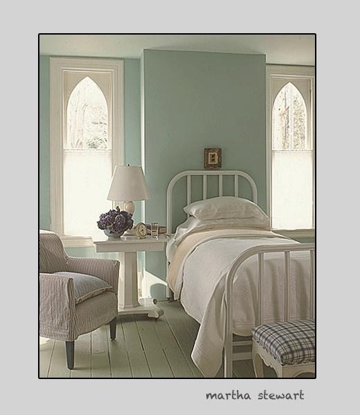 Martha stewart sea glass blue stark clean just like for Master bedroom paint ideas martha stewart