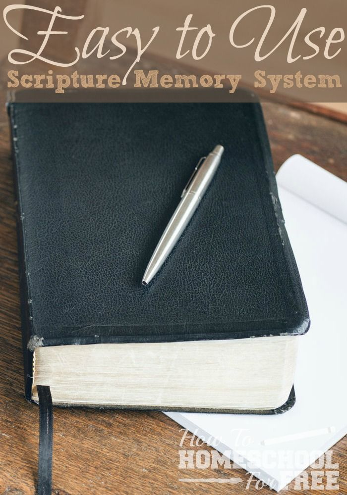 Check out this easy and inexpensive way to memorize scripture in your…