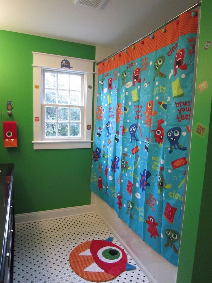Boys Monster Bathroom