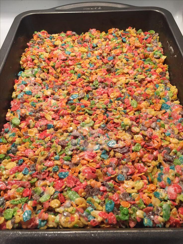 Rainbow Rice Krispies!