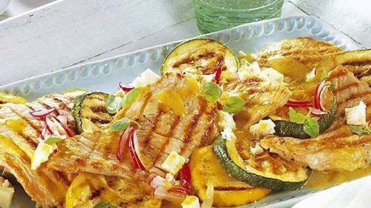 Puten-Zucchini-Platte