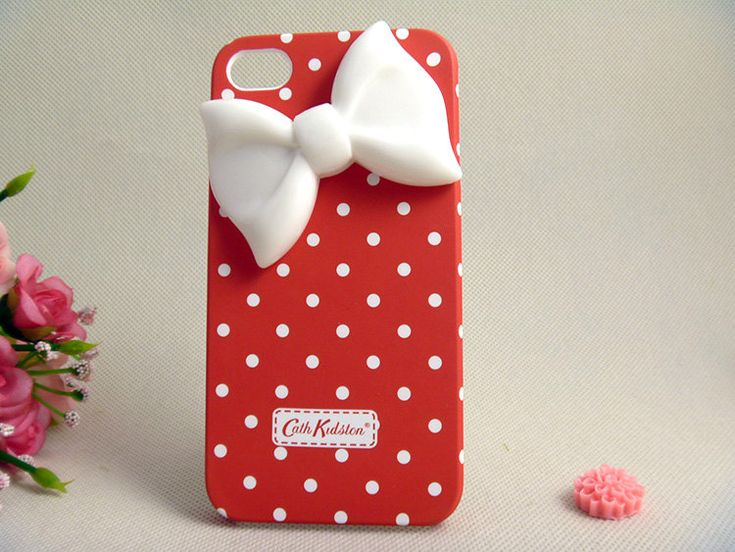 Cute iPhone case with bow!