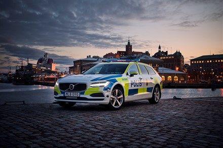 Volvo V90 as a police car