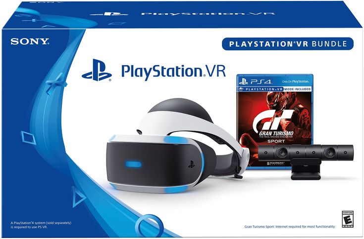 Bundle includes: PSVR Headset, PS4 camera, and Gran Turismo Sport. Put yourself in the driver's seat with Gran Turismo Sport on PlayStation VR and challenge yourself in the ultimate racing experience. Experience racing in new and extraordinary ways. Turn your head and aim towards the apex as you enter the corner. Confidently throttle down as you look ahead at the exit to a blind corner. The future of motorsport is with PlayStation VR.