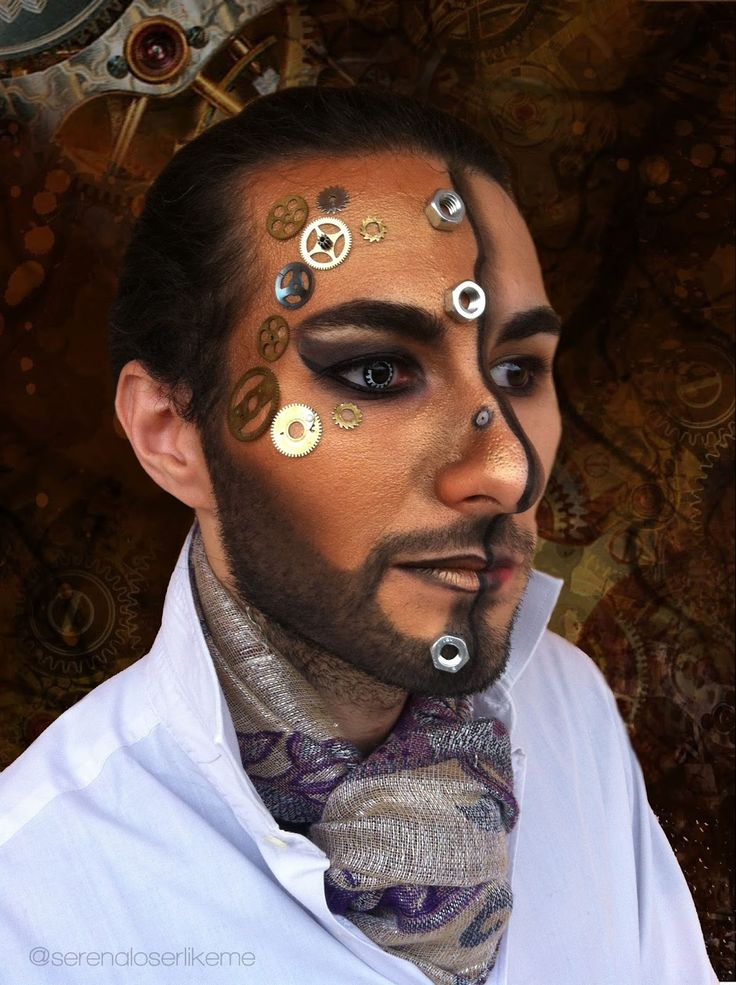 ✄ Steampunk Hero Makeup Tutorial ✄ #steampunk #steampunkhero #makeup #makeuptutorial #steampunkmakeup #steampunkmakeuptutorial #steampunkheromakeup #halloweenmakeup #vintage #malemakeup #makeupformen #whovian #drwho #futuristicmakeup #lindseystirling #airship #cosplay #cosplayer #robot #droid #android #robotmakeup #androidmakeup #trucco #truccosteampunk #truccocarnevale #carnevale #truccorobot #eroesteampunk #fantasy #truccofantasy