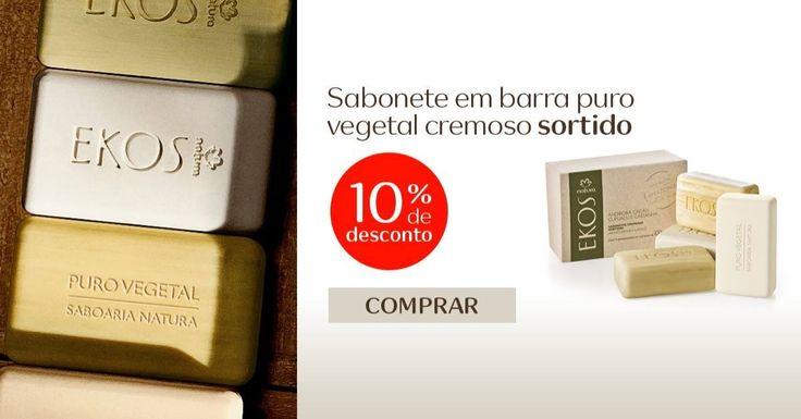 Natura Ekos traz o melhor da Amazônia para você. Na Saboaria Natura em Benevides - Bélem do Pará - os sabonetes de Natura Ekos são criados através de uma rede sustentável de respeito aos ciclos da natureza e das comunidades que cultivam os ativos.   Conteúdo: Caixa de Sabonetes em Barra Puro Vegetal Natura EKOS: 1 Castanha, 1 Cupuaçu, 1 Cacau e 1 Andiroba (100g cada). Benefícios: Limpeza, perfumação, sabonetes puro vegetal e sortimento de fragrâncias.