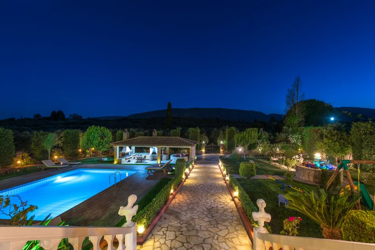 Amalthia Luxury villa is a 6-bedroom villa with a newly built private pool in Mouzaki, a small village in the south of Zakynthos.
