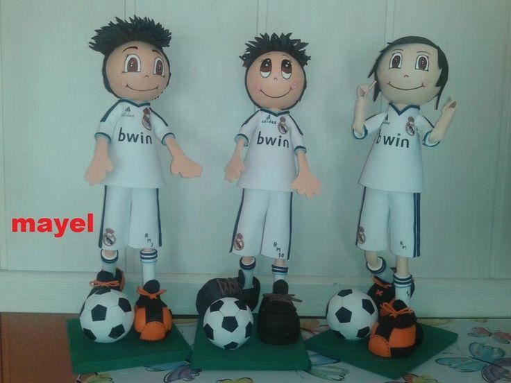 Otros - fofuchos futbolistas personalizados - hecho a mano por mayelartesanias en DaWanda