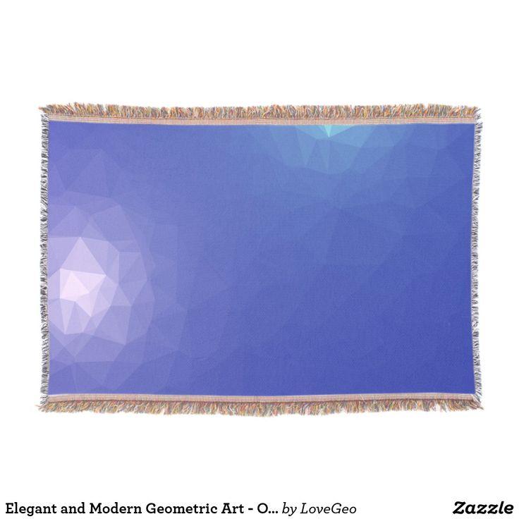 Elegant and Modern Geometric Art - Ocean Kingdom Throw Blanket #LoveGeo #geometric #abstract #Uniquegifts #trendy #shopping #giftidea #personalized #throws #homedecor
