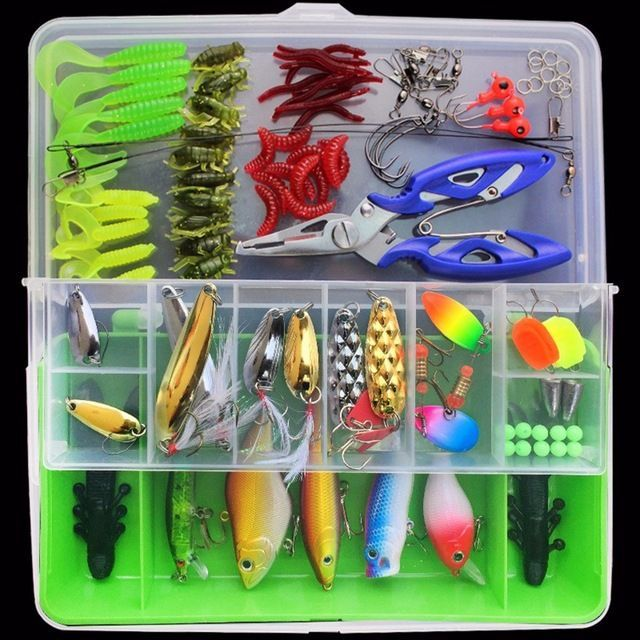 Beads With Tackle Box Fishhook Fishing Tackle Equipment Fishing Accessories Set