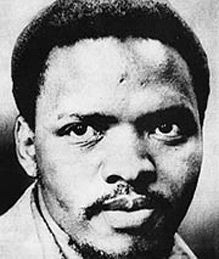 Steve Bantu Biko (18 December 1946 - 12 September 1977), an anti-apartheid activist and founder of the Black Consciousness Movement, was severely clubbed into a coma by four South African state security policemen after he was taken into custody and shackled in Police Room 619, Port Elizabeth. He died some days later from his head injuries.
