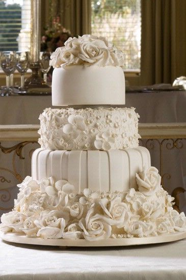 Different Textured & Layered All White Cake