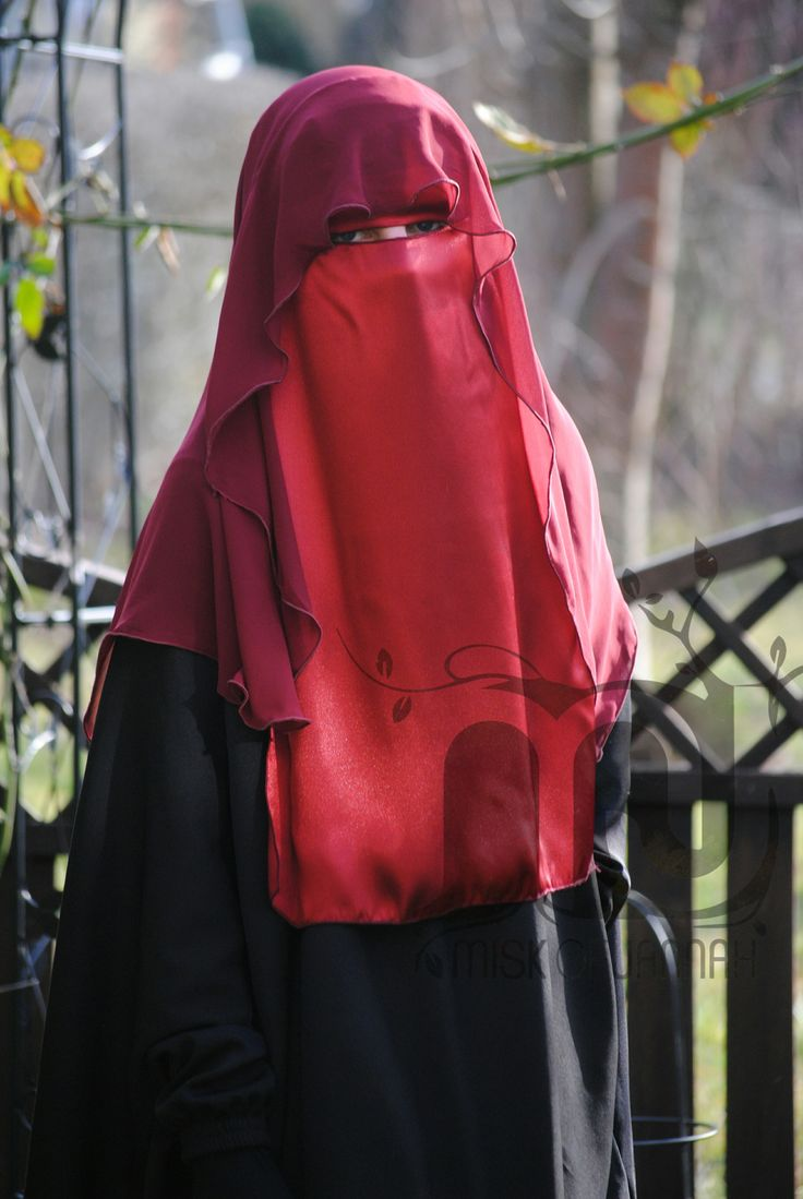 Butterfly-Niqab - Rot