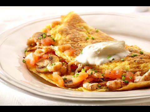 Recept 'Omelet garnaal met tomaten en champignons'   njam!