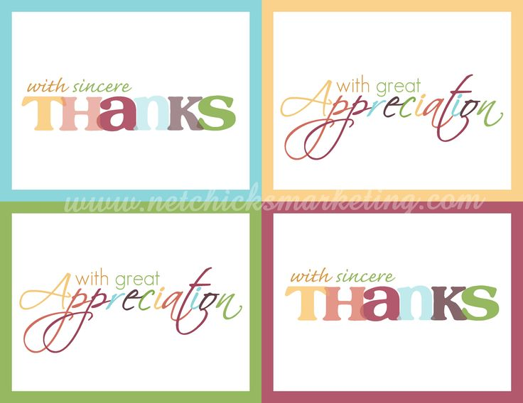 124 best Thank You! images on Pinterest Free printable, Free - printable thank you note
