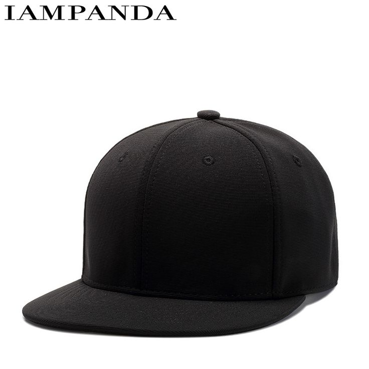Dance Hall Customer Black Polyester Fiber Light Panel Hat Summer Air Concise Hats Male Korean Hip Hop Solid Color Plain   Cap