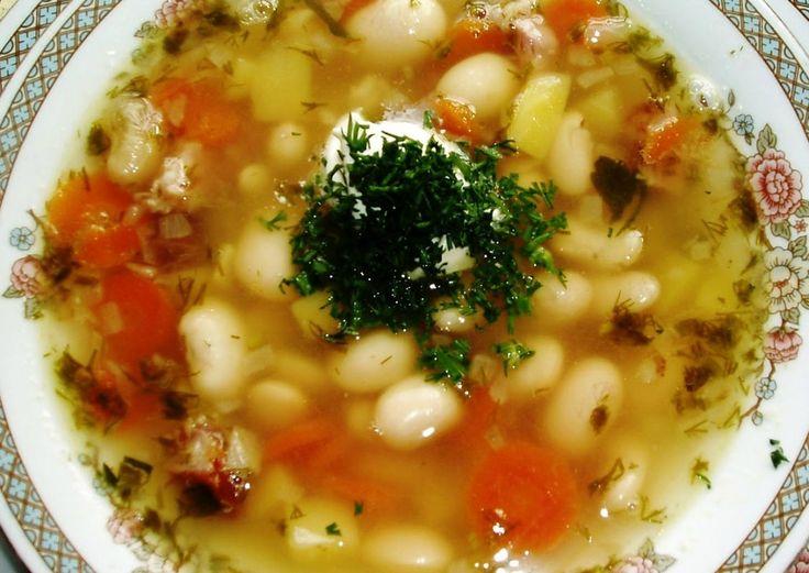 Фасолевый суп копченые ребра