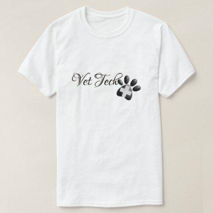 Veterinarian Technician Vet Tech Cross and Paw T-Shirt - nursing nurse nurses medical diy cyo personalize gift idea