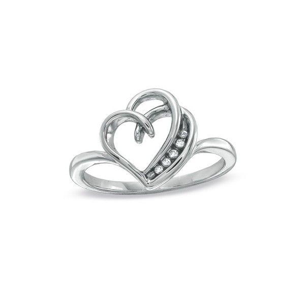 Lovely 44 best Heart Rings images on Pinterest | Heart ring, Heart rings  WS54