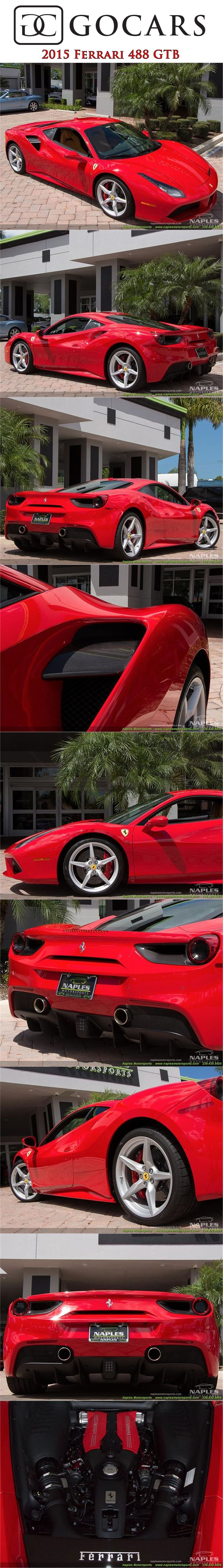 2017 Ferrari 488 GTB for sale on GoCars Rosso Corsa (Red) / Beige Leather Interior - 3.9L V8 Twin-Turbocharged - 661hp @ 8,000rpm - 561ft-lbs @ 3,000rpm - Automated Double Clutch Transmission (F1) - Only 702 miles! #ferrari #ferrari488 #ferrari488gtb #ferrariphotos #sportscars #sportscar #supercars #supercar #luxurycars #gocars