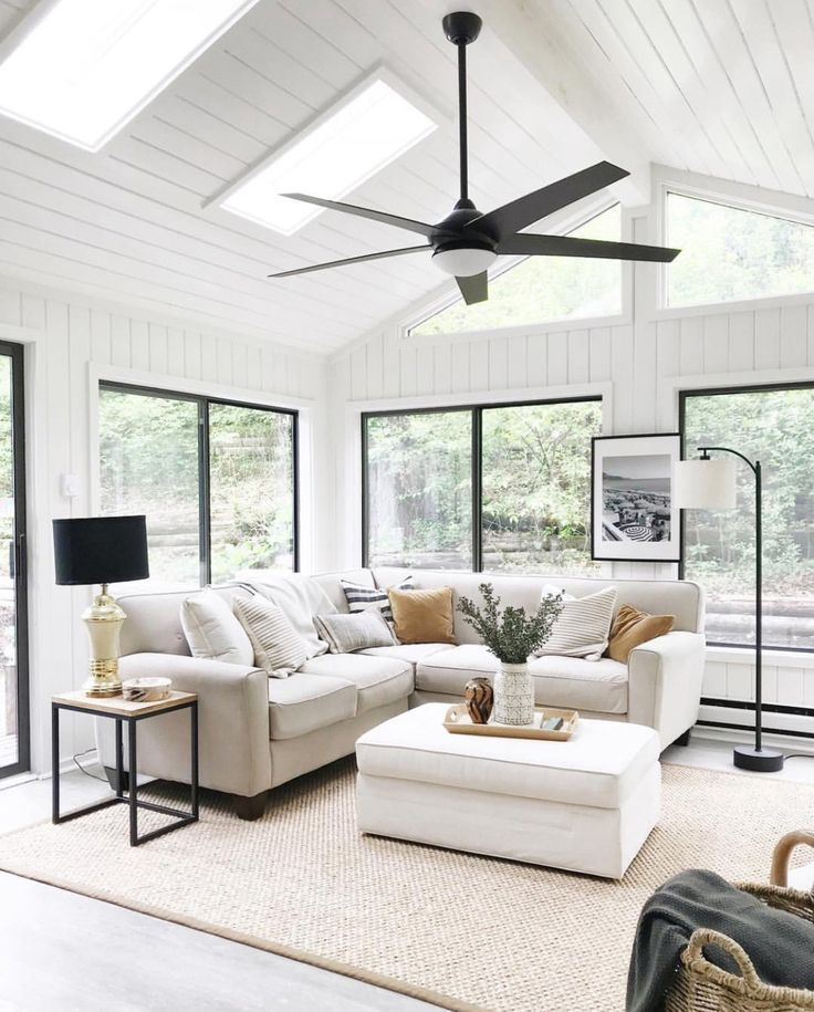 Black Window Inspiration Farm House Living Room Living Room