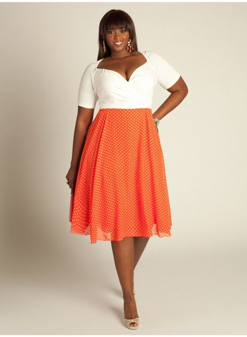 Plus size daring dots camisole dress