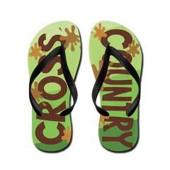 Cross Country Flip Flops --- Mud and Grass Themed for the Cross Country Runner, Coach or Parent --- Unique Gift for High School or College Cross Country Athletes, http://www.cafepress.com/+cross_country_mud_and_grass_flip_flops,593456482
