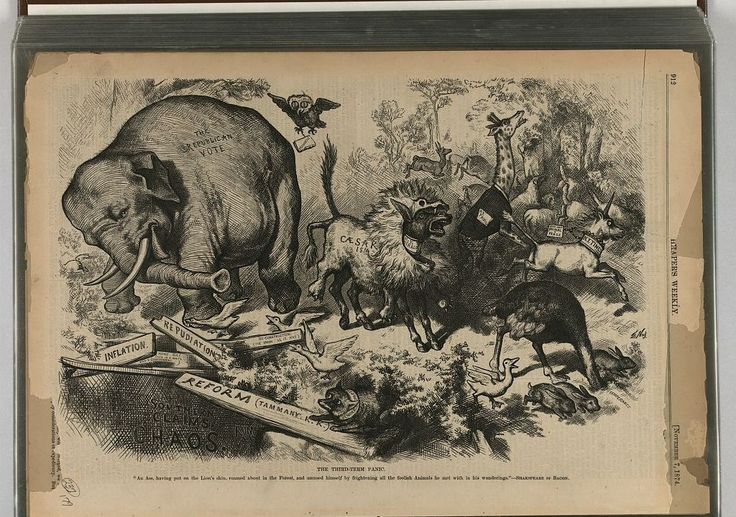 The elephant and the donkey as symbols for America's biggest political parties date back to the 1800s and this controversy
