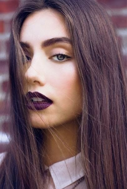 I want pretty: Makeup- Labios obscuros/ Dark lips!