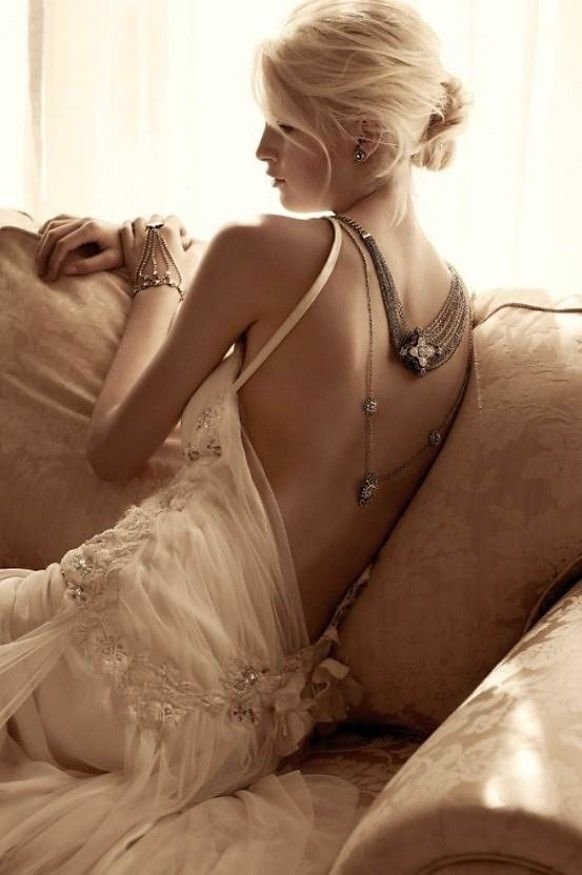 Samantha Wills Bridal and Jewelry Collection ♥ Sexy Lace Deep Low-Cut Back Wedding Dress