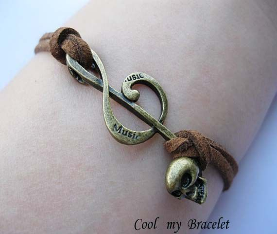 Handwoven music charm bracelet by Coolmybracelet on Etsy, $0.99