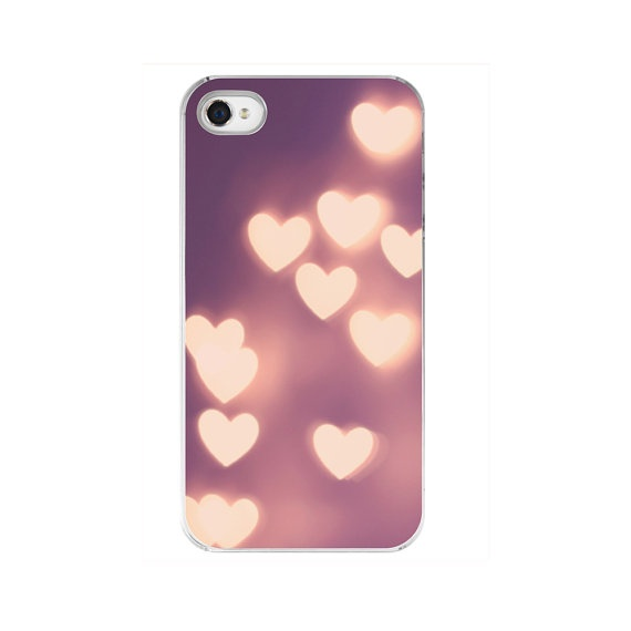 """iPhone Case - Pink/Purple Girly Heart Bokeh - Fine Art Photography - """"Your Love is Electrifying"""". $35.00, via Etsy."""