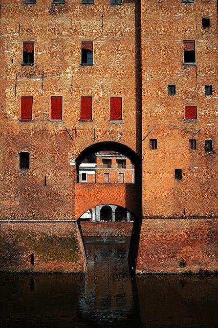 Castello Estense, Ferrara, Emilia Romagna, Italy. Birthplace of the First Lady…