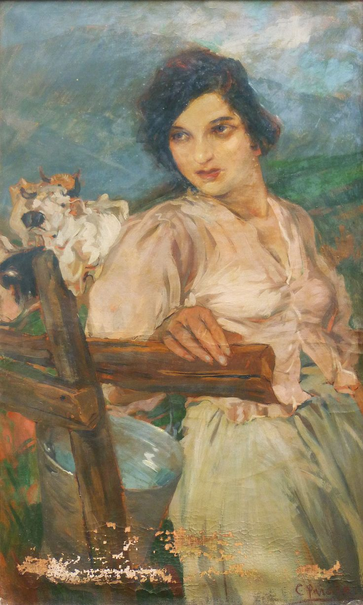 Cosimo Privato (Venice 1899 - 1971) - wonderful portrait - 100cm x 61cm - not yet restored