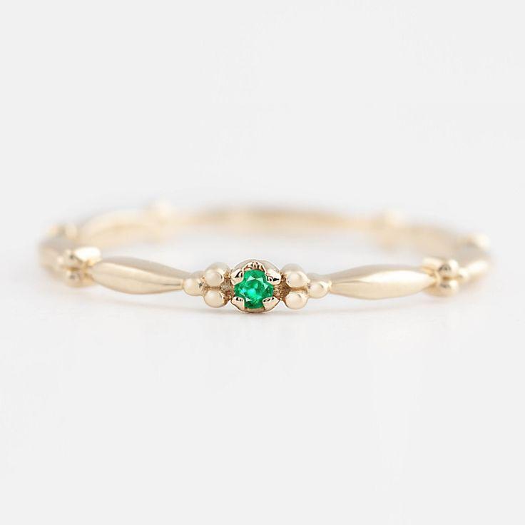 Natural emerald ring | Etsy