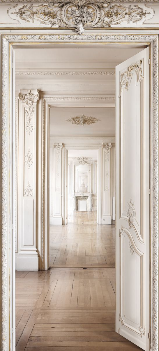 wallpaper panel perspective d int rieur haussmannien h 2 50 x l 1 36 m koziel doorways. Black Bedroom Furniture Sets. Home Design Ideas