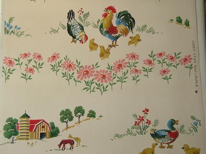 Vintage wallpaper for a 50s kitchen | Vintage & Retro ...
