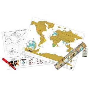 Scratch off travel map.