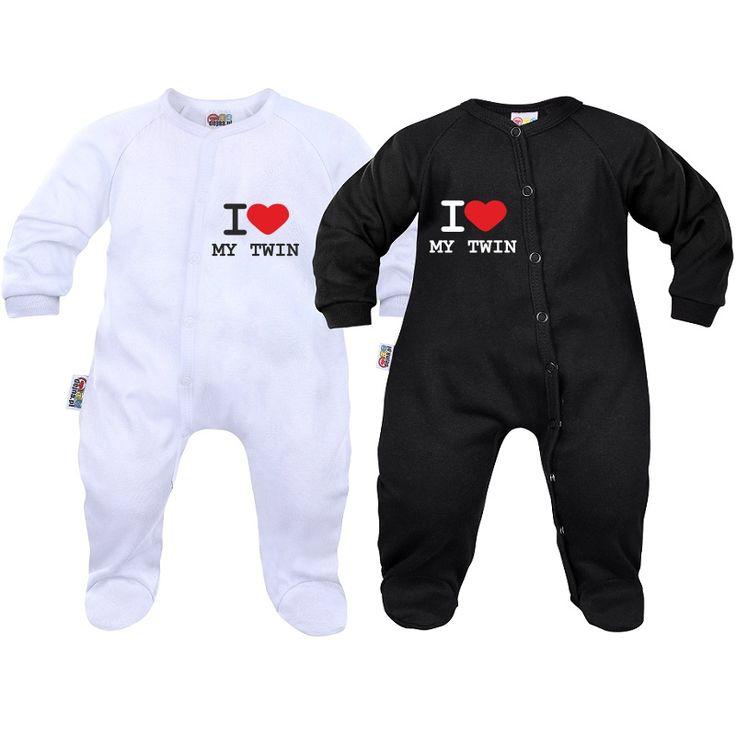 Pyjamas bébé jumeaux : I love my twin - Dors bien - SiMedio