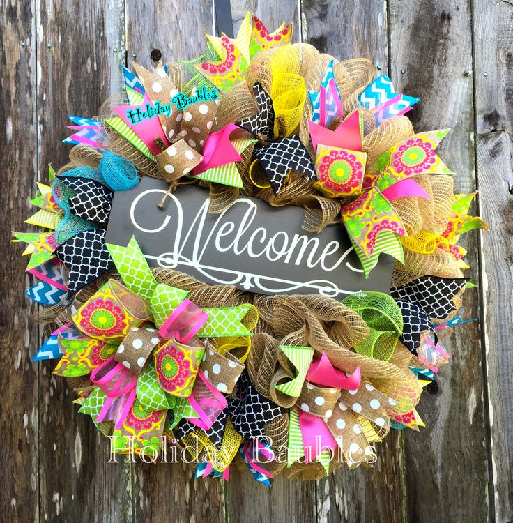 Welcome Spring Wreath by Holiday Baubles